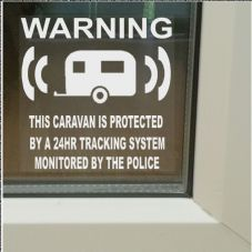 1 x Caravan Dummy Fake GPS Tracking System Device Unit-RV Security Alarm Warning Window Stickers-Police Monitored Vinyl Signs